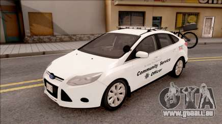 Ford Focus 2013 Community Service Officer für GTA San Andreas