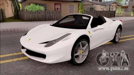 Ferrari 458 Italia Spider für GTA San Andreas