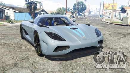 Koenigsegg Agera N 2011 [replace] pour GTA 5