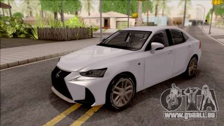 Lexus IS XE30 200t F Sport 2017 für GTA San Andreas