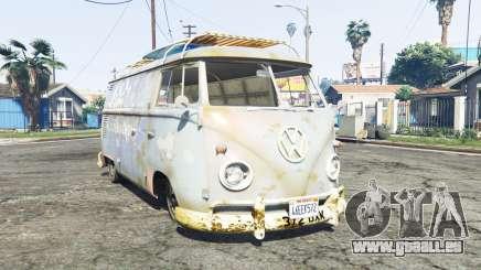 Volkswagen Typ 2 (T1) 1960 rat [replace] pour GTA 5