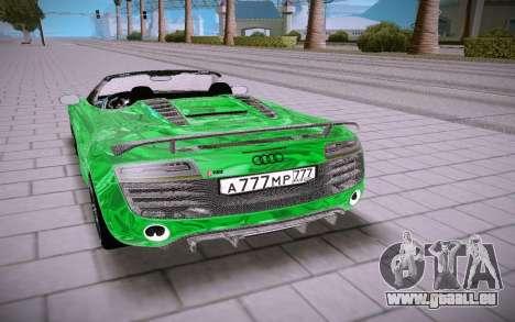 Audi R8 Spyder 5 2 V10 Plus pour GTA San Andreas