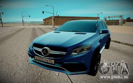 Mercedes-Benz Gl 63 AMG für GTA San Andreas Rückansicht