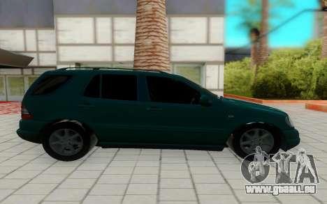 Mersedes-Benz ML 230 pour GTA San Andreas laissé vue