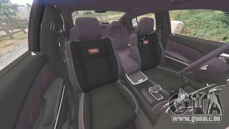 GTA 5 Dodge Charger RT 2015 LSPD [replace] rechte Seitenansicht