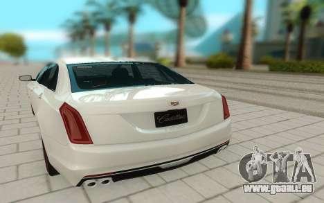 Cadillac CT6 pour GTA San Andreas vue arrière