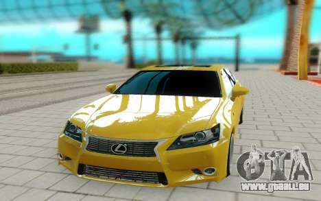 Lexus GS 350F pour GTA San Andreas vue de droite
