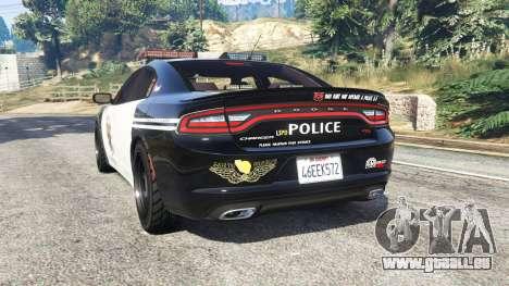 GTA 5 Dodge Charger RT 2015 LSPD [replace] hinten links Seitenansicht