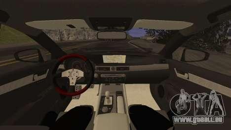 Lexus GS350 für GTA San Andreas Rückansicht
