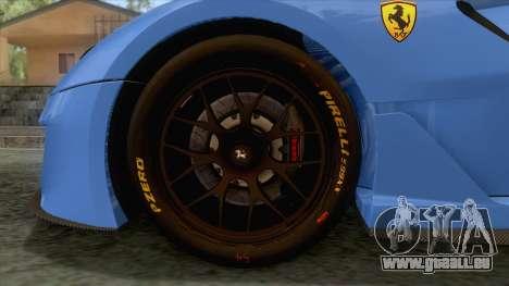 Ferrari GTO 599XX pour GTA San Andreas vue arrière