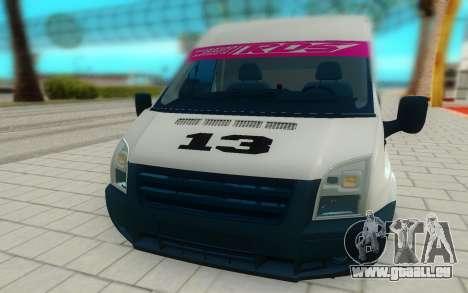 Ford Transit pour GTA San Andreas vue de droite