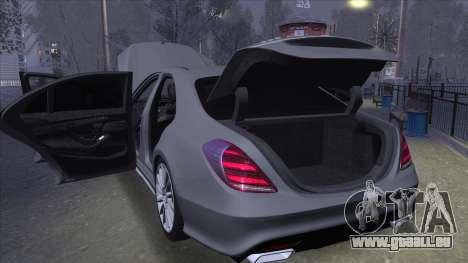 Mercedes-Benz S-class W222 für GTA San Andreas
