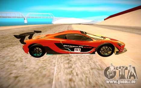 McLaren P1 GTR pour GTA San Andreas laissé vue