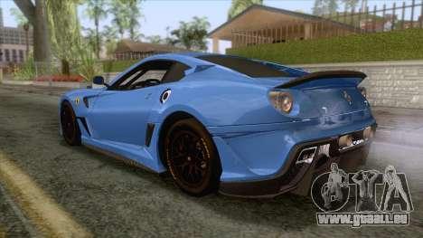 Ferrari GTO 599XX pour GTA San Andreas laissé vue
