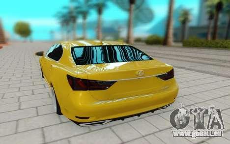Lexus GS 350F pour GTA San Andreas vue arrière