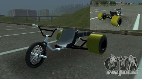 Drift Trike pour GTA San Andreas sur la vue arrière gauche