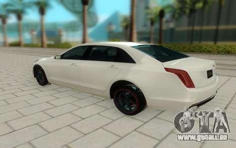 Cadillac CT6 pour GTA San Andreas sur la vue arrière gauche