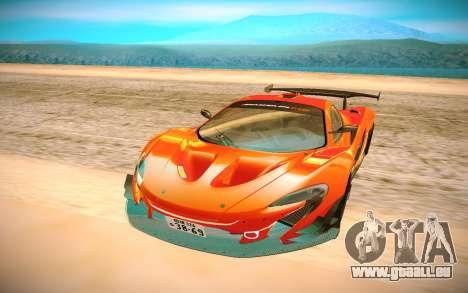 McLaren P1 GTR pour GTA San Andreas vue arrière