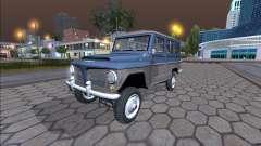 Jeep Ländlichen Willys 1961 - Brasilianische Version für GTA San Andreas