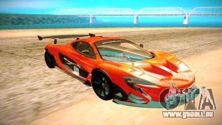 McLaren P1 GTR noir pour GTA San Andreas
