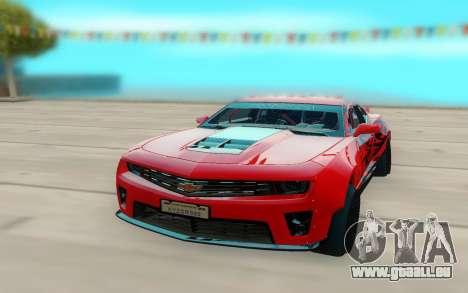 Chevrolet Camaro ZL1 pour GTA San Andreas vue arrière