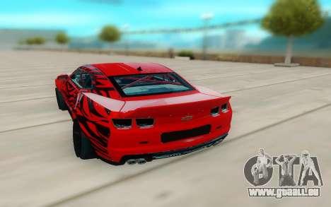 Chevrolet Camaro ZL1 pour GTA San Andreas vue de droite