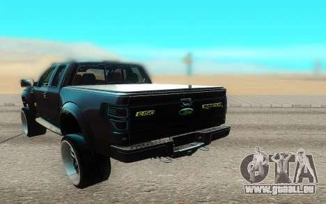 Ford 150 Raptor 2012 pour GTA San Andreas vue arrière