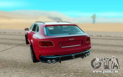 Bentley Bentayga Startech pour GTA San Andreas vue de droite