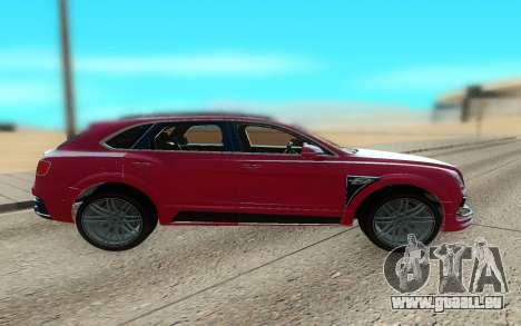 Bentley Bentayga Startech pour GTA San Andreas laissé vue