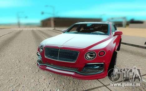 Bentley Bentayga Startech pour GTA San Andreas vue arrière