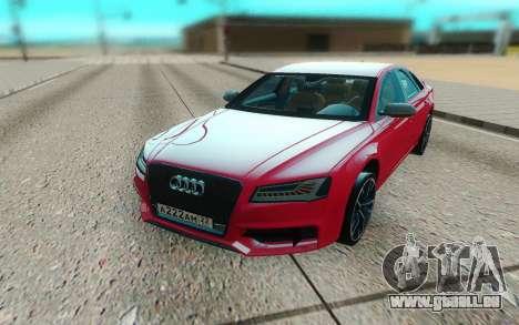 Audi S8 TMT für GTA San Andreas Rückansicht