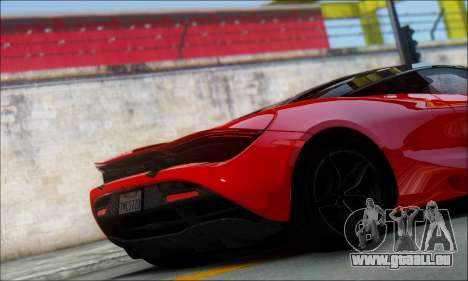 McLaren 720S pour GTA San Andreas sur la vue arrière gauche