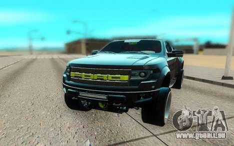 Ford 150 Raptor 2012 pour GTA San Andreas vue de droite