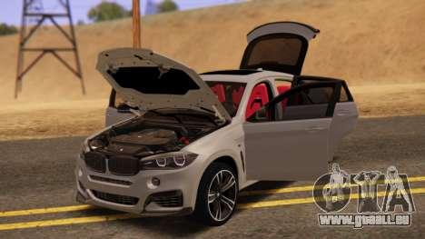 BMW X6 50D pour GTA San Andreas sur la vue arrière gauche