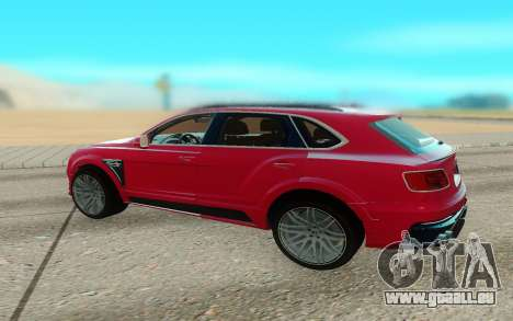 Bentley Bentayga Startech pour GTA San Andreas sur la vue arrière gauche