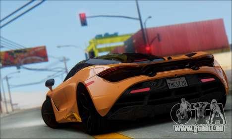 McLaren 720S pour GTA San Andreas laissé vue