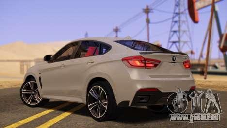 BMW X6 50D pour GTA San Andreas laissé vue