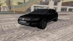 Volkswagen Touareg чёрный pour GTA San Andreas