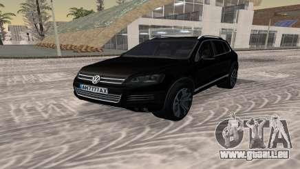 Volkswagen Touareg чёрный für GTA San Andreas
