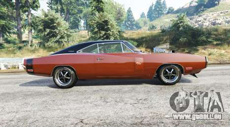 GTA 5 Dodge Charger RT (XS29) 1970 v4.0 [replace] vue latérale gauche