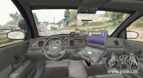GTA 5 Ford Crown Victoria LSPD [replace] arrière droit vue de côté