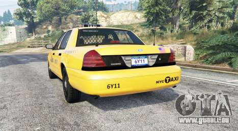 GTA 5 Ford Crown Victoria Undercover Police [replace] arrière vue latérale gauche