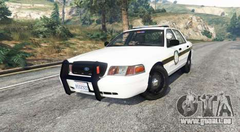 GTA 5 Ford Crown Victoria State Trooper [replace] droite vue latérale