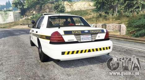 GTA 5 Ford Crown Victoria State Trooper [replace] arrière vue latérale gauche