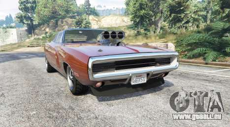 Dodge Charger RT (XS29) 1970 v4.0 [replace] pour GTA 5