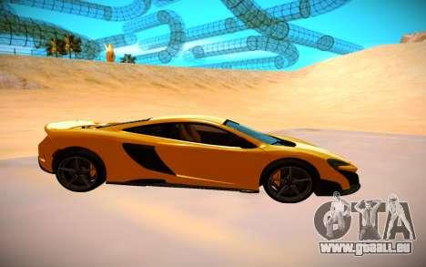 McLaren 675LT pour GTA San Andreas vue arrière