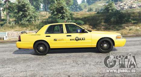 GTA 5 Ford Crown Victoria Undercover Police [replace] vue latérale gauche
