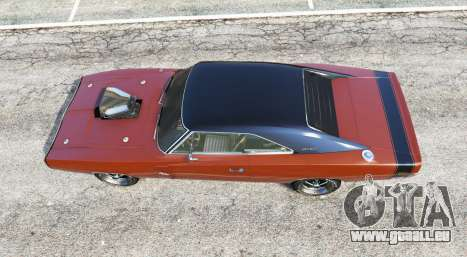 GTA 5 Dodge Charger RT (XS29) 1970 v4.0 [replace] vue arrière