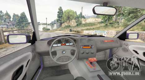 GTA 5 BMW M3 (E36) Touring v2.0 [replace] arrière droit vue de côté