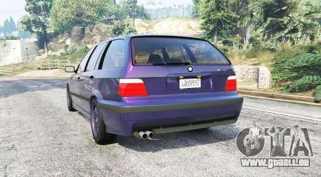 GTA 5 BMW M3 (E36) Touring v2.0 [replace] arrière vue latérale gauche